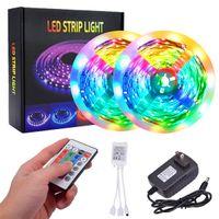 Plástico quente de plástico 300-LED SMD3528 24 W RGB IR44 Light Strip ajustado com controlador remoto IR (placa branca da lâmpada) Lâmpada de fita da fita da corda