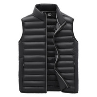 Men Jacket Men Clothing Down Vest Jacket Mens New Autumn Warm Sleeveless Male Winter Casual Waistcoat Vest Plus Size