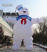 العملاق نفخ البقاء puft marshmallow رجل 6 متر الأبيض الهواء في مهب الكرتون شبح نموذج ghostbuster البالون للديكور هالوين في الهواء الطلق