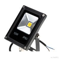 Ultrathin LED Flood Light 10W Black Cover AC85-265V Waterproof IP65 Floodlight Spotlight Outdoor Lighting Free Shipping