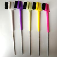 Nova vinda 3 x borda escova escova mágica coleção dupla face borda pente noivos suaves 2 em 1 q sqcjio