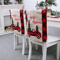 Lattice auto Albero di Natale pranzo della sedia della copertura Cap Cena sedia Xmas Cap Per la casa Cucina Sala da pranzo Decor JK2010PH
