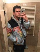 유명한 NF 망 재킷 의류 남성 여성 스타일리스트 세계지도 반사 재킷 망 스타일리스트 재킷 겨울 코트 크기 M-XXL