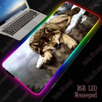 XGZ Wolf RGB Gaming Large Animal Mouse Pad Gamer Led Compute...