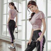 Trajes de yoga 3 unids Mujeres Sportswear Tacksuit Summer Secar rápidamente Secar Foot Runking Casual Entrenamiento Set Sport Traje Sudadera + Pantalón + sujetador