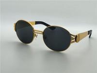 레트로 디자인 선글라스 라운드 금속 프레임 최고 품질의 야외 안경 안티 UV 렌즈 및 원래 상자 2138