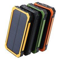 شاحن للطاقة الشمسية 15000mAh قوة البنك 4 ألوان powerbanks بطارية للهواتف المحمولة أقراص pc poverbank الهواتف المحمولة الهواتف الذكية