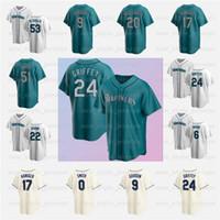 24 Ken Griffey JR Jersey Mariners 22 Robinson Cano Men 51 Ichiro Suzuki Edgar Martinez Mitch Haniger Dee Gordon 맞춤 야구 유니폼