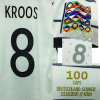 2020 Jogador desgastado Edição Kroos 100 Caps com 100 Jogos Futebol Patch Badge Home Têxtil
