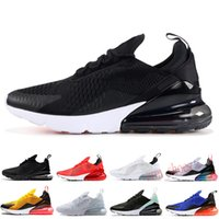 Nike Air Max 270 Triplo Preto núcleo branco Homens Mulheres 27s Athletic sapatos clássico OG Regency roxo Bred instrutor Olive Tiger esportes ao ar livre Sneakers Z01