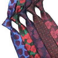 Mens Tie 7см 1200 Иглы Престижное Человек Цветок Цветочные Галстуки Hand Made Tie Классический бизнес Свадьба подарков