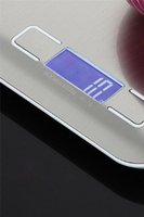 Mini Dijital Mutfak Ölçeği Ağırlık Gram ve Oz pişirme pişirme için 1G / 0.1oz hassas mezuniyet paslanmaz çelik ve temperli cam EEF4240