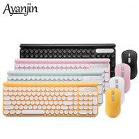 Умный замок с запятой Беспроводная клавиатура и набор мыши Silent Mise Keyboard подвеска ретро круглые крышки ключей клавиатуры1