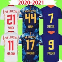 RB Leipzig 20 21 Futbol Forması deplasmanda üçüncü WERNER Camiseta HEE-CHAN Maillot HALSTENBERG SABITZER 2020 2021 Futbol Gömlek Kitleri CUNHA Üniforma soccer jersey