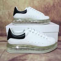 2021 Высокая Quality Мужская Женская Повседневная Обувь Мода Натуральная Кожа Воздушная Подушка Начальник Плоские Часы Спорт Запатиллас Замша