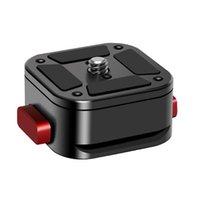Portátil Placa Quick Release com 1/4 polegadas Parafuso SLR Estabilizador Tripé Quick Release Base de PTZ Suporte