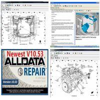أفضل سعر 2020 لتصليح السيارات ALLDATA لينة وير السيارة أداة تشخيصية وALLDATA 10.53 نسخة لينة وير في 640GB HDD USB 3.0