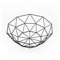 Metall Obstkorb Kunst Geometrie Eisen Draht Aufbewahrungskörbe Wohnzimmer Home Tisch Ornamente Tablett Einfachheit Küche 6 5SX G2
