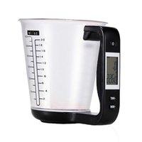 12 unids Multi función LCD Pantalla de cocina Escala de cocina Temperatura Gran capacidad de medición Digital Herramienta de copa de medición electrónica para Asia