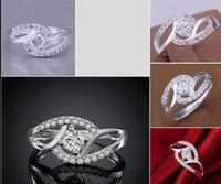 Damas de lujo de lujo anillos de cristal austriaco vestido de fiesta joyería de circón