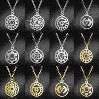 LavixMia Authentic Edelstahl Schmuck 7 Chakra Halskette Großhandel Weibliche zierliche Boho Lotus Charme Halsketten Dropshipping1