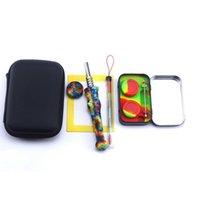 Kit de collecteur de ongles DAB paille avec titane de 14mm avec outil de conteneur de silicium Dabber Tool à glissière à glissière multi-couleurs