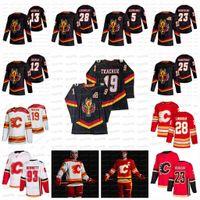 Matthew Tkachuk Calgary Flames 2021 عكس الرجعية Jarome Iginla جوني Gaudreau Jacob Markstrom Monahan Sam Bennett Lindholm Giordano جيرسي