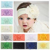 Neue Kinder Blume Haarband Kinder Stereo Rose Nylon Weiche elastische Haarbänder Baby Mädchen Haarband Kind Haarschmuck C6814