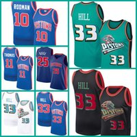 DetroitPistonesJersey Grant 33 Hill Dennis 10 Rodman Isiah 11 Thomas Jerseys Baloncesto Derrick 25 Rose Men Jamal 27 MurraYasa