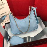2021 Hobo Bag Designer um sacos de luxo de três propósitos Bolsa clássica mulheres moda um ombro mensageiro pacote preto crossbody bolsa senhoras presente