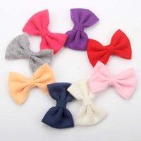 Accessoires de cheveux 40pcs / lot 3 '' feutre arc clips pour filles jolies arcs enfants doux bricolage bandeau accessoires1