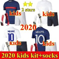 새로운 2020 프랑스 소년 샹들리에 Maillot 드 발 Francia enfant 키트 키트 2 별 Griezmann Kante Mbappe Pogba 축구 프랑스 축구 유니폼