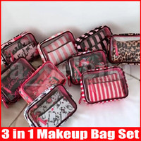 PVC Transparent Cosmetic Organizer Travel Toiletry Bag Set P...