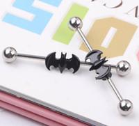 Barbell-Ohrgerüstbar Barhells Batman Body Chirurgisches Stahlohr Industrie