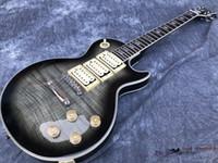 Benutzerdefinierte Shop Ace Frehley Signature 3 Pickups E-Gitarre, hochwertiger Flammenholzholz, transparente schwarze allmähliche Farbe