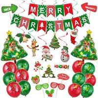 عيد الميلاد الديكور فندق الألومنيوم احباط بالون مجموعة عيد الميلاد الصورة الدعائم لولبية الحلي سقف الديكور الحزب لعب الأطفال لعب دور