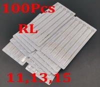 Drop Shipping Blandade 100 Tattoo Needles 11RL 13RL 15RL Round Liner Supplies
