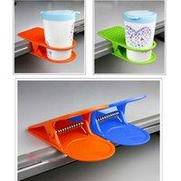 Taza de almacenamiento al por mayor de escritorio del hogar Tabla taza de agua titular de rack de soporte de la horquilla de clip tabla del escritorio del estante taza de la bebida taza de café Clip Holder AAF2757