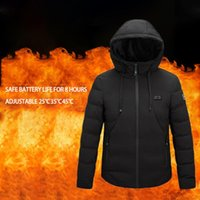 2020 Electric Jacket Heated Down Cotton USB Keep Warm Electric Jacket Heated Balck Body Warmer Warm Thermal Winter Clothing