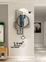 Настенные часы минималистские часы гостиная современная простая атмосферная личность креативная мода декоративный свет роскошь