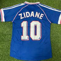 Top 1998 Retro Zidane 10 Henry 12 Thuram 15 Fútbol Jersey Vintage Maillot de Foot Tailandia Calidad 2006 Jerseys de fútbol Uniforme Camisa