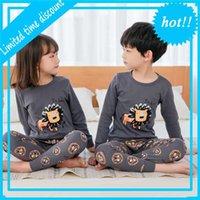 Получить детские детские пижамы наборы Cato Boys Nightwear Pack Girls Kids Pajamas Long Mouwen Tops