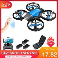 V8 Mini Drone 4K 1080P Cámara HD WiFi FPV Presión de aire Altitude Hold Black Quadcopter RC Drone Toy 201105
