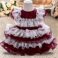 Plbbfz Blumenkleid Mädchen 1. Geburtstagsfeier Hochzeit Spitze Tutu Mädchen Kleid Baby Mädchen Prinzessin Vestido Infantil Weihnachtskostume1
