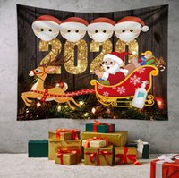 2020 Chirstmas Quarantäne Ornament Wandteppiche Hanging Decke Teppiche Familie von Survivors Cartoon-Tapisserien Ornament Dekoration E101302
