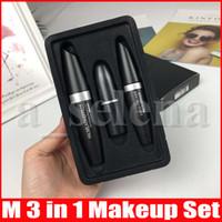 M Makeup Kollection Set Liquid Eyeliner Mascara Matte Lippenstift setzt 3 in 1 Lippe Kit kosmetische Kit