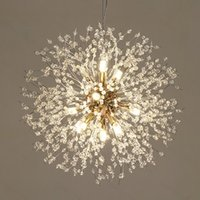 Spark Topu LED Avize Aydınlatma Dandelion Avize Yemek Oturma Odası Bar Kişilik Yaratıcı Sanat Kristal Lambaları