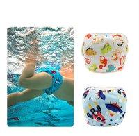 16色ユニセックス防水調節可能な布のおむつパンツの赤ちゃんの再利用可能な洗えるプール水着M3048