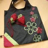 스토리지 가방 도매 - 고품질 핸드백 딸기 접이식 쇼핑 재사용 가능한 접는 식료품 나일론 대형 쇼핑백 멀티 컬러 1