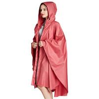 Yuding 1 unid seis colores lisos de buena calidad adulto impermeable hombres con capucha capa cubierta de lluvia capa mujer trinchera lluvia poncho con bolso 201015